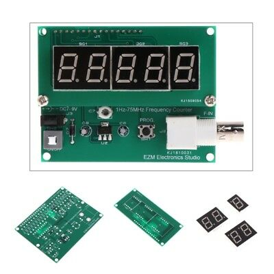 1Hz-75MHz Frequency Counter 7V-9V 50mA DIY Kit Cymometer Module Tester Meter New