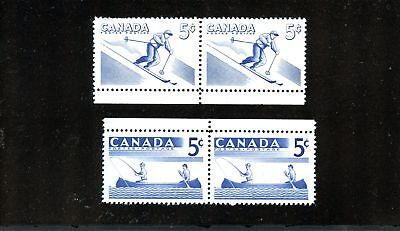 LOT 73127  MINT NH  365i AND 368i  IDENTICAL PAIRS VARIETY