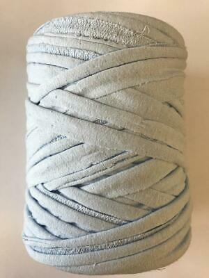 Medium T-Shirt Recycled Jersey Knitting Crochet Rug Yarn Pale Blue