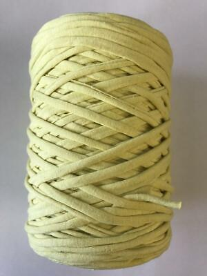 Medium T-Shirt Recycled Jersey Knitting Crochet Rug Yarn Pale Yellow