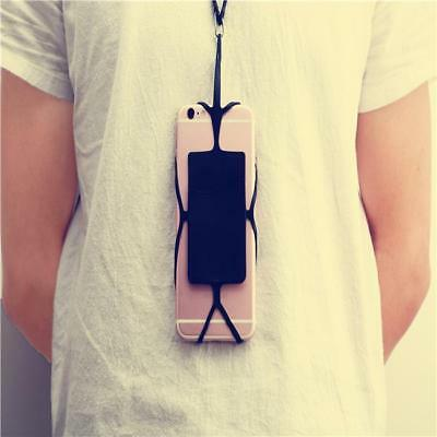 Silicone Lanyard Case Cover Holder Sling Necklace Wrist Strap For Cell Phone SI