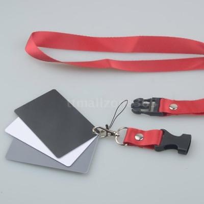 3in1 Digital Balance Cards 18%Gray Card+Neck Strap for Digital Photography. O3P4