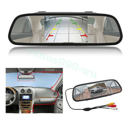 800*480 Car Rear View Mirror Monitor For Parking Reverse Camera New 5'' TFT LCD