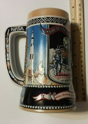 7 Inch Beer Mug Apollo 11 American Achievements NASA Miller High Life used