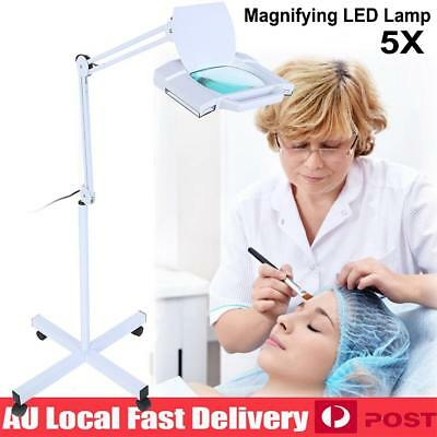 5x Magnifying Beauty Lamp Glass Lens LED Illuminated Light Magnifier Floor Stand