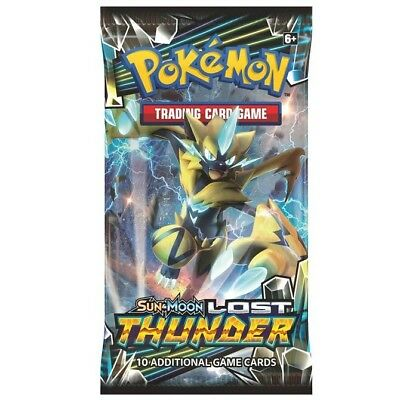 (1) Pokemon Sun & Moon 8 Lost Thunder Booster Pack New Sealed! Fast Shipping!
