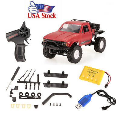 WPL C14 1/16 2.4G 2CH 4WD Mini Off-road RC Semi-truck RTR Kids Climb Truck X9N2