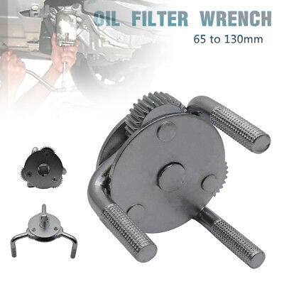 Dual Drive Oil Fuel Filter Remover Wrench 3 Jaw 2 Way Removal Tool 65 to 130mm