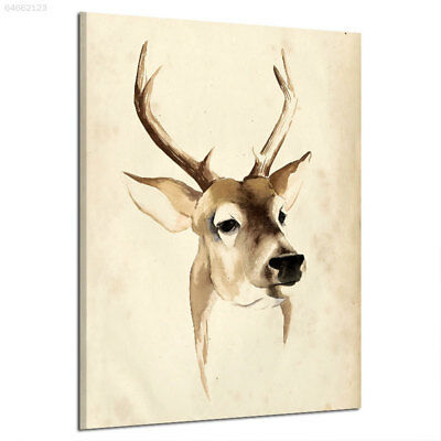 309F FC49 Elk Nordic Decorations Oil Painting Nonwoven Fabrics Frameless Western