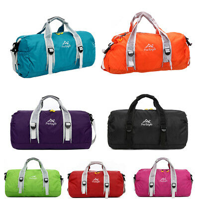 Men Women Travel Tote Bag Sports Gym Duffle Holdall Waterproof Nylon Handbag UK