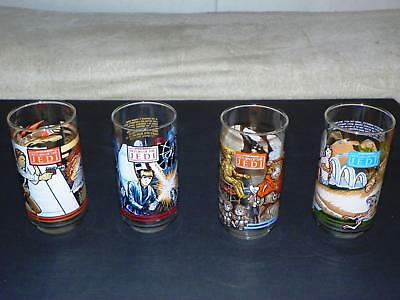 1983 Star Wars Return Of The Jedi Burger King & Coca-Cola Promo Glass Full Set