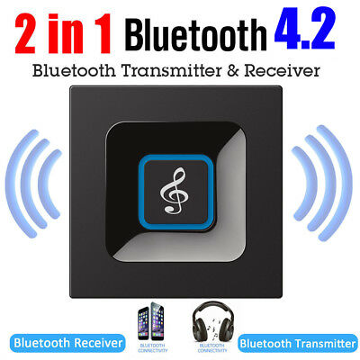 3.5mm A2DP Wireless Bluetooth 4.2 Receiver Transmitter Audio Home Stereo Adapter