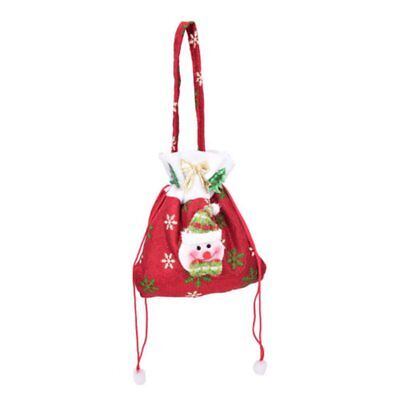 Christmas Gift Handbag Drawstring Present Candy Bag Home Party Xmas Decoration T
