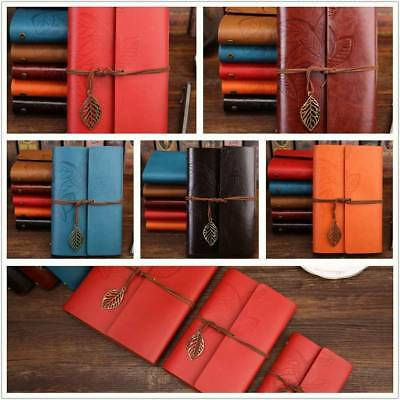 Diary Notebook Sketchbook Vintage Leaf Travel Leather Paper Journal Book A5/6/7