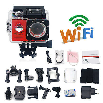 Action Sports kamera WiFi FHD 14MP 170° Wasserdicht Helm kamera DV Cam
