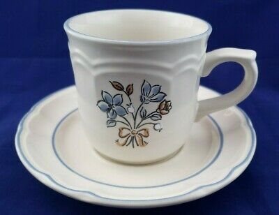 Bluet by Cordella Flat Cup and Saucer - Made in Japan