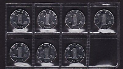 China 1 Jiao Coins 2005 to 2015 different dates 7 coins total