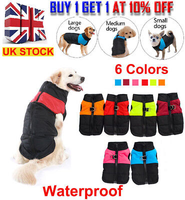 SMALL to EXTRA LARGE Pet Dog Waterproof Warm Winter Quality Coat jacket clothes