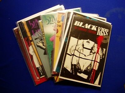 Black Kiss vol 1 complete 12 issue  series  1988-9  All first prints. VFN. .
