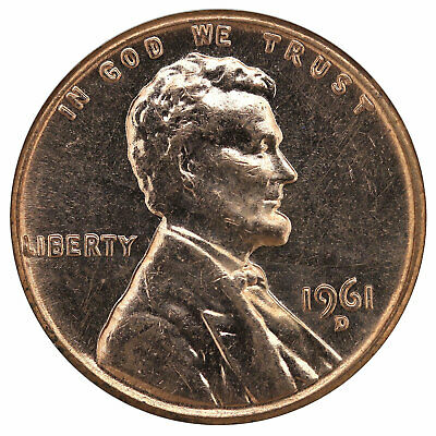 1961 D Lincoln Memorial Cent BU Penny US Coin