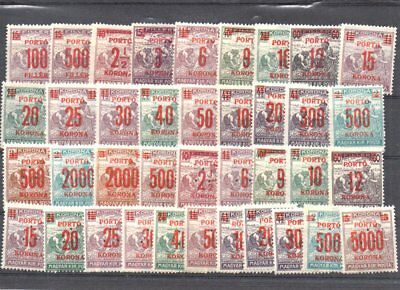 Postage due stamps of Hungary MNH collection