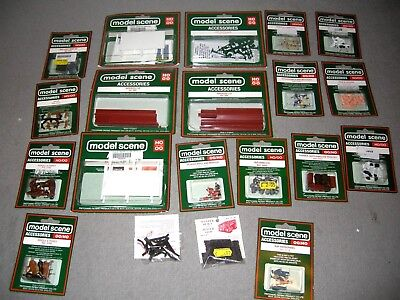 Model Scene OO Gauge Scale Model Railway Train Figures etc Job Lot of 20 Packets