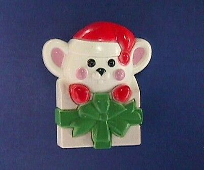 BUY1&GET1@50%~Avon PIN Christmas 🎁 MOUSE in GIFT BOX Holiday Vtg Brooch HK