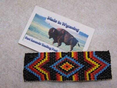 Hand Made Beaded Hair Barrette Rendezvous Black Powder Mountain Man 2