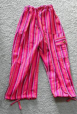Made In Peru Cotton & Rayon Casual Colorful Baggie Pants Children Size #100905