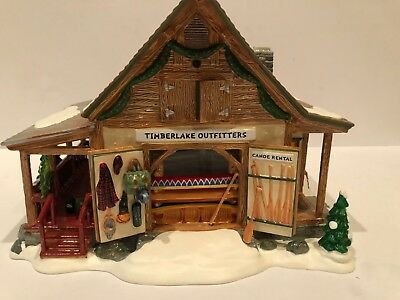 Dept 56 Snow Village® Timberlake Outfitters BRAND NEW NEVER DISPLAYED