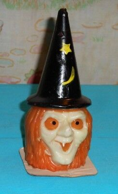 vintage Halloween SUNI WITCH HEAD CANDLE
