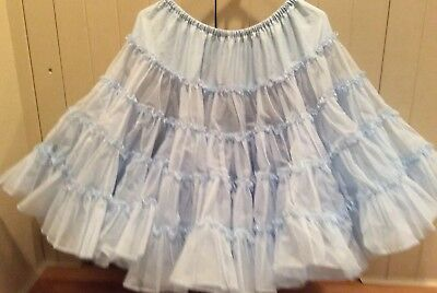 Light Blue Square Dance Petticoat