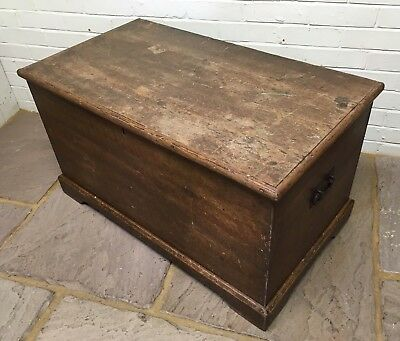 Victorian Pine Blanket Box Trunk Chest Original Paint Restored and Finished