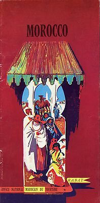 MOROCCO TOURIST BOOKLET - RARE EARLY 1960s MOROCCO MOROCCAN TOUR GUIDE