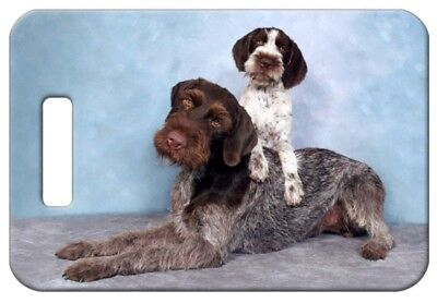 Set of 2 German Wirehaired Pointer Luggage Tags
