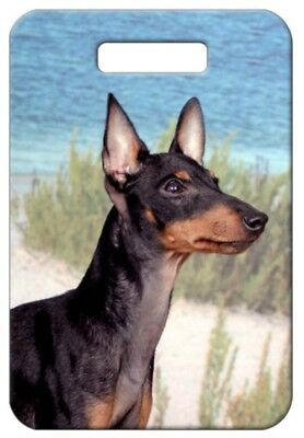 Set of 2 Manchester Terrier Luggage Tags