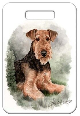Set of 2 Airedale Terrier Luggage Tags
