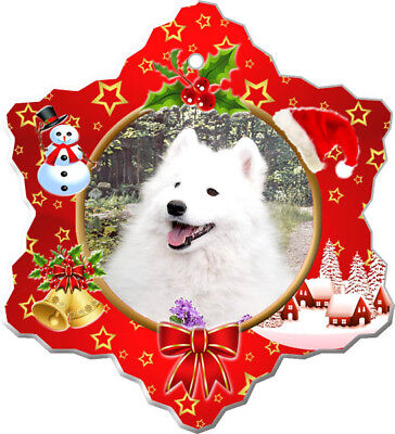 American Eskimo Porcelain Christmas Holiday Ornament