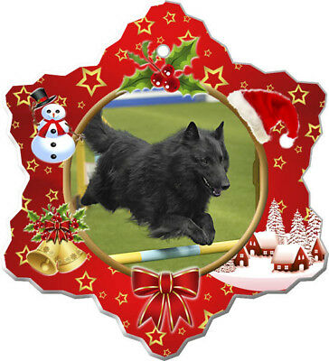 Belgian Sheepdog Porcelain Christmas Holiday Ornament