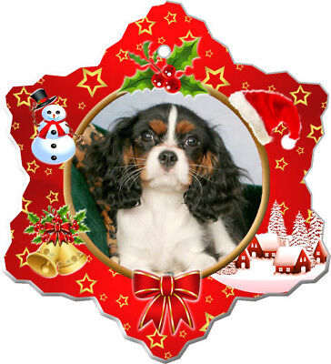 Cavalier King Charles Spaniel Porcelain Christmas Holiday Ornament