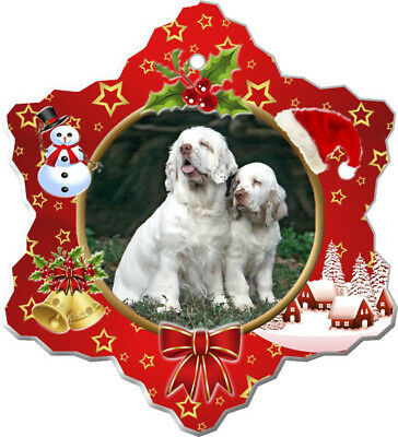 Clumber Spaniel Porcelain Christmas Holiday Ornament
