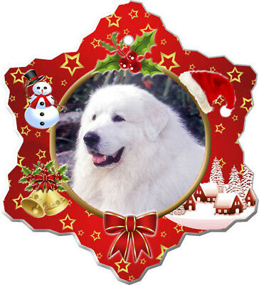 Great Pyrenees Porcelain Christmas Holiday Ornament
