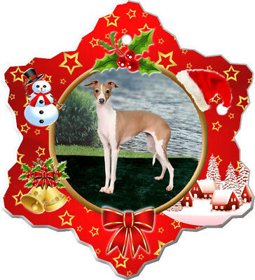 Italian Greyhound Porcelain Christmas Holiday Ornament