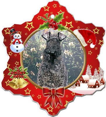 Kerry Blue Terrier Porcelain Christmas Holiday Ornament