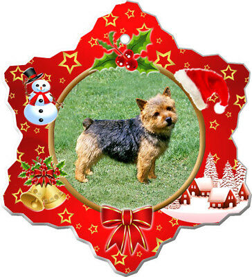 Norwich Terrier Porcelain Christmas Holiday Ornament
