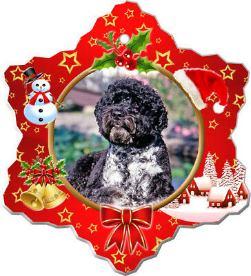 Portuguese Water Dog Porcelain Christmas Holiday Ornament