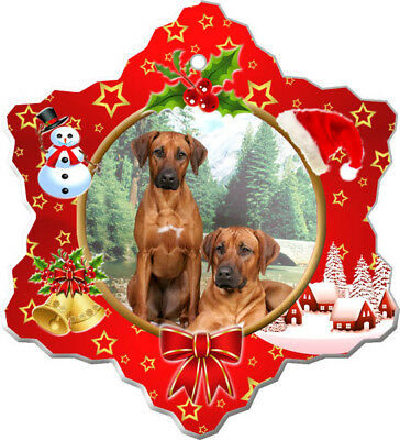 Rhodesian Ridgeback Porcelain Christmas Holiday Ornament