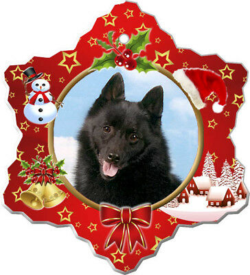 Schipperke Porcelain Christmas Holiday Ornament