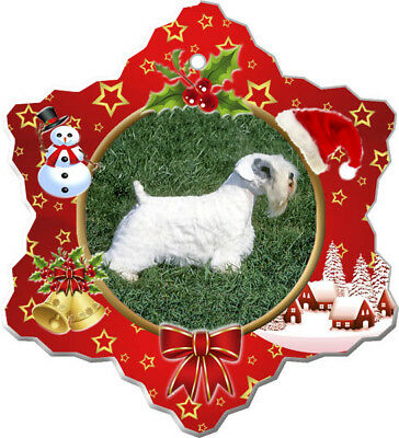Sealyham Terrier Porcelain Christmas Holiday Ornament
