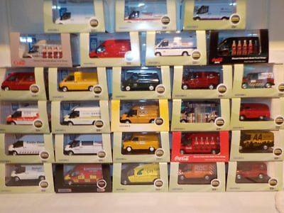 Ford Transit Vans, Huge Choice Liverys. Oxford 1/76 dublo